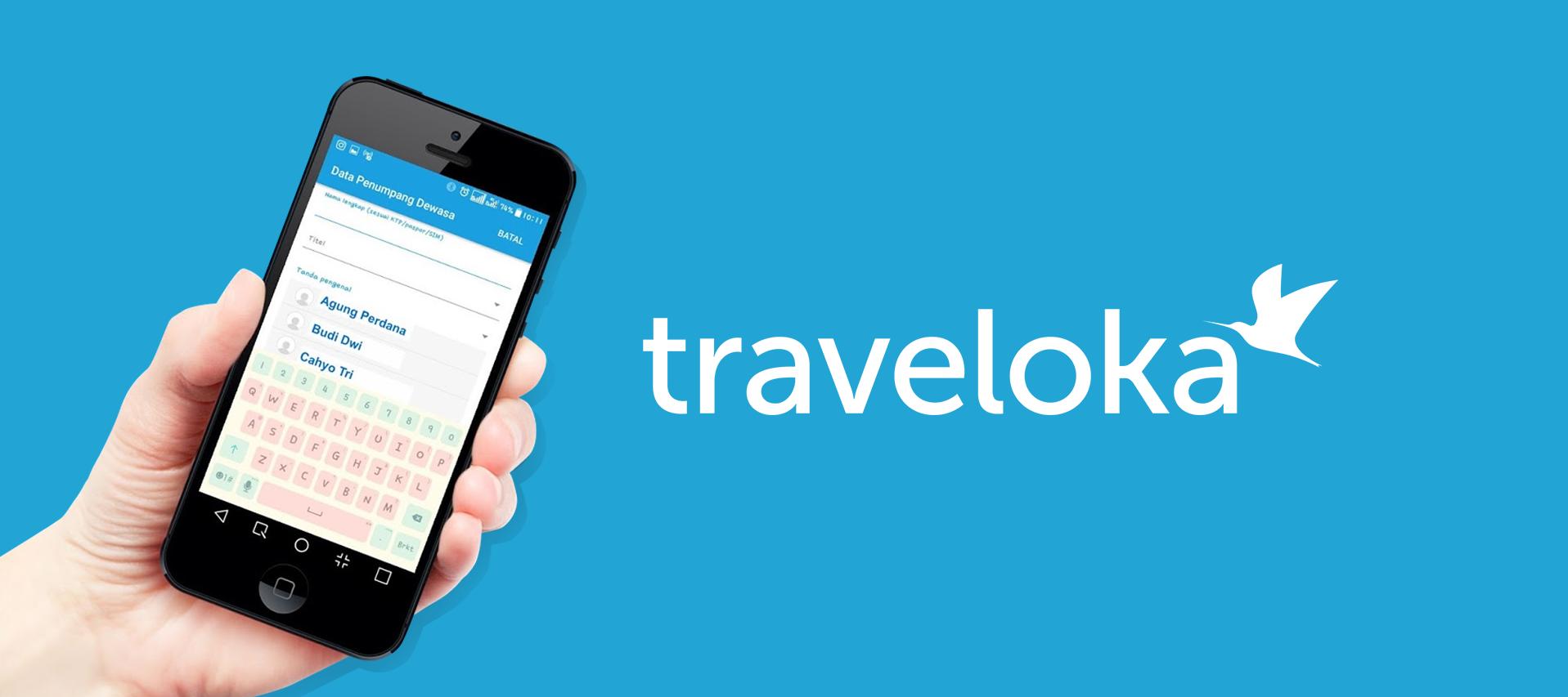 Fitur pemesanan tiket kereta pada aplikasi Traveloka | Foto: