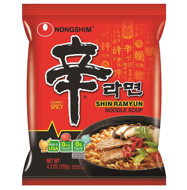 Nongshim: Shin Ramyun Noodle Soup Gourmet Spicy | Sumber: Amazon