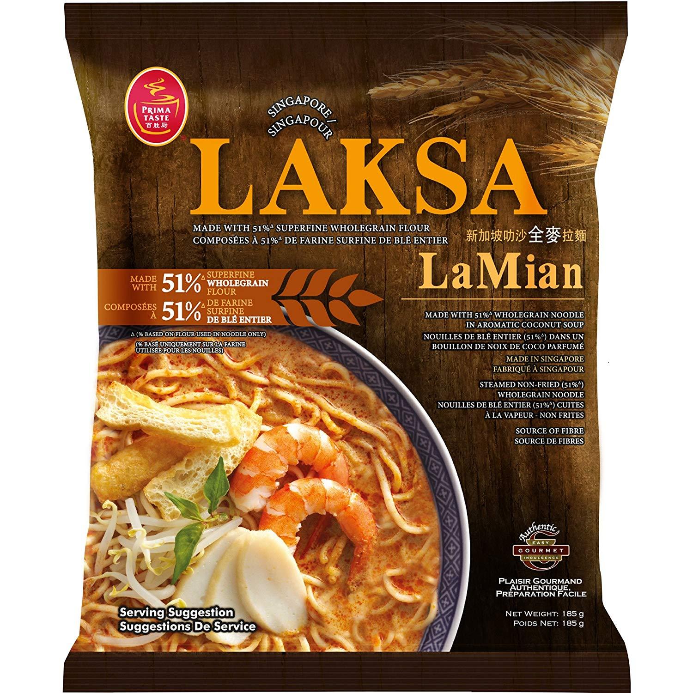Prima Food: La Mien Premium Wholegrain Noodle in Laksa | Sumber: Amazon