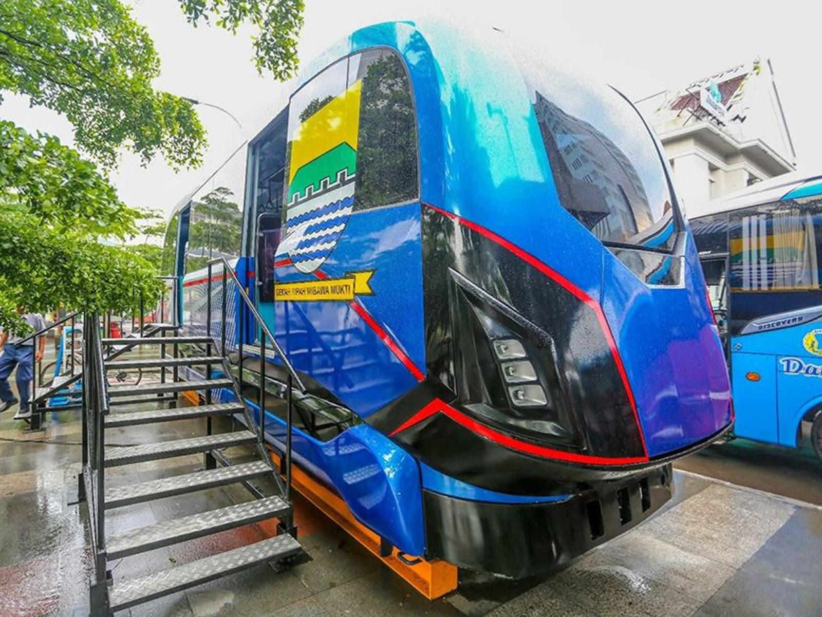 Prototipe LRT Bandung | Sumber: wisatabdg.com
