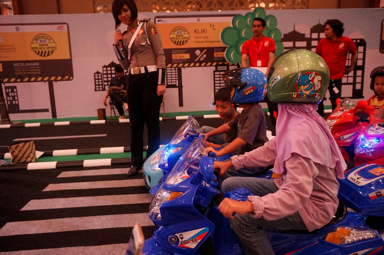 Salah satu permainan ramah anak di Pojok Bermain (Foto: Bagus DR / GNFI)
