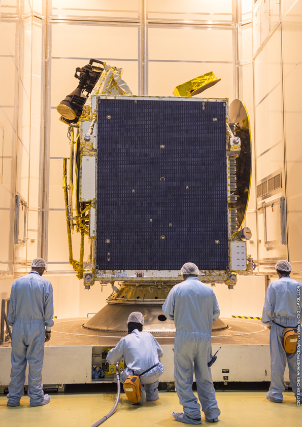 Satelit Telkom 3S (© Arianespace)