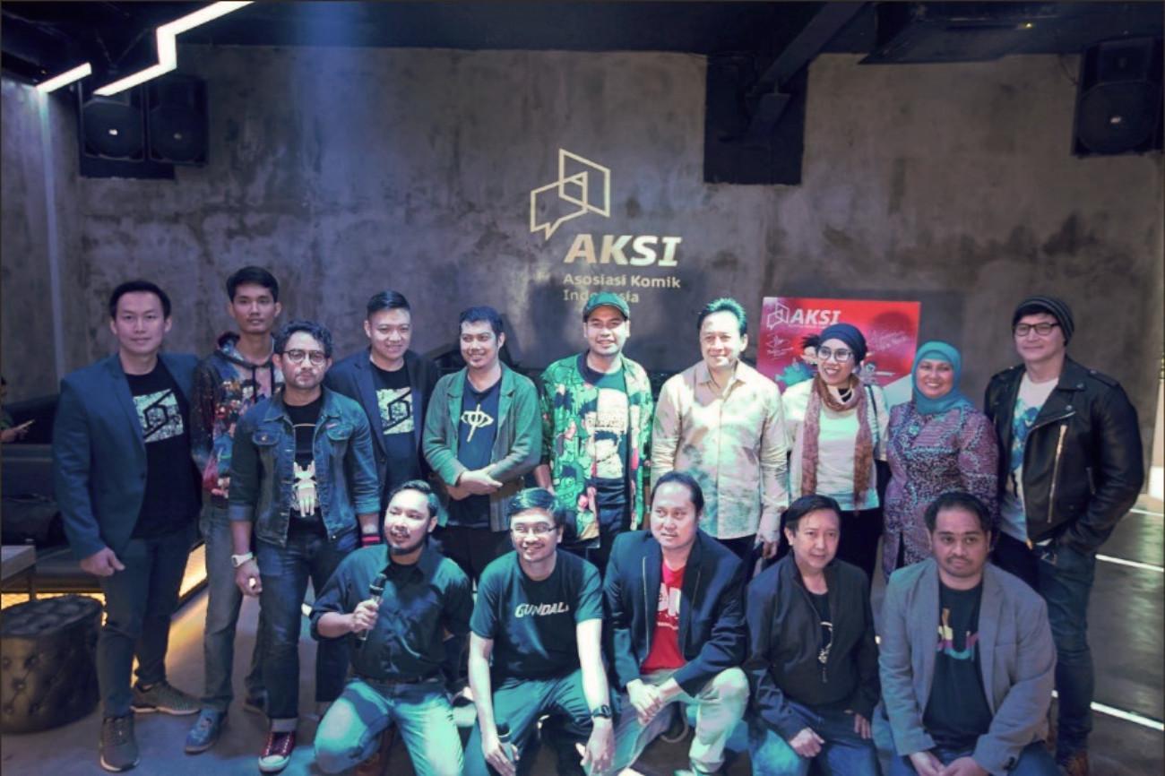 Para komikus dan perusahaan yang tergabung dalam AKSI (Foto: dok. AKSI)