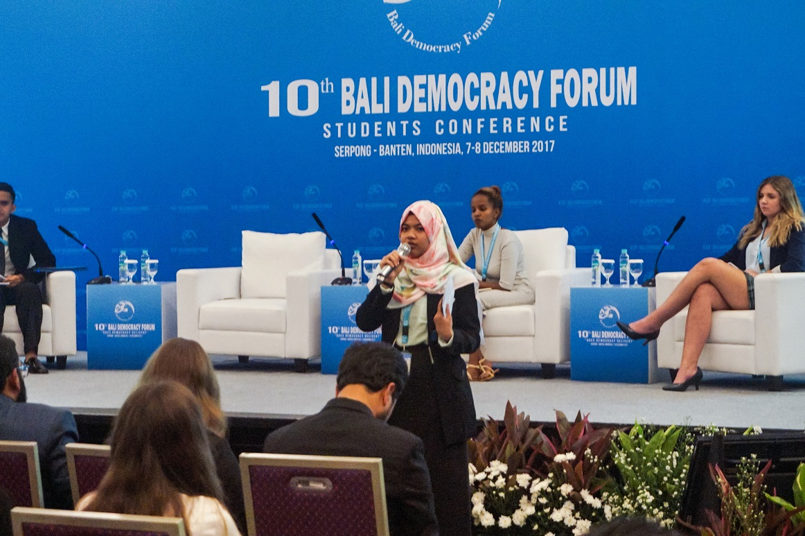 Afifah Puti Sholihat saat diskusi panel BSDC (Foto: Bagus DR/GNFI)