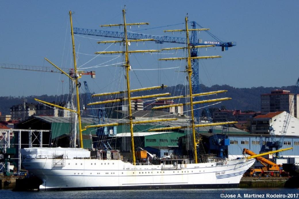 KRI Bimasuci di galangan Freire, Vigo April 2017 (Foto: Jose A. Martinez / Shipspotting.com)