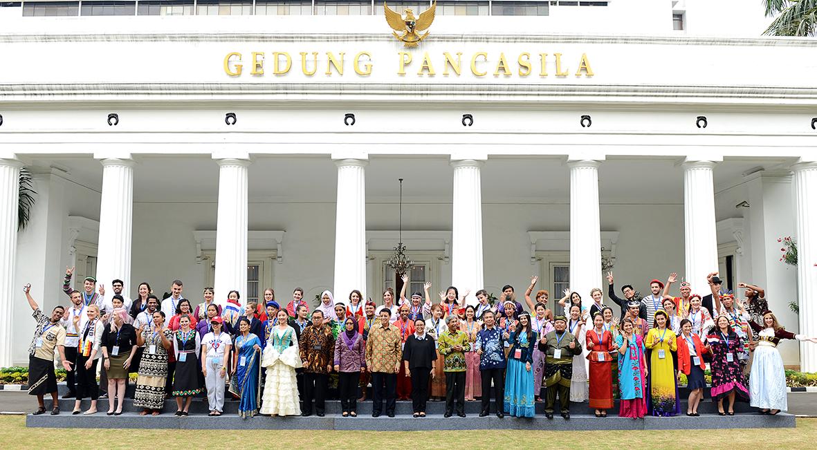 Para peserta BSBI saat pembukaan program di Jakarta 7 Mei 2017.(Foto: dok. Kemenlu)