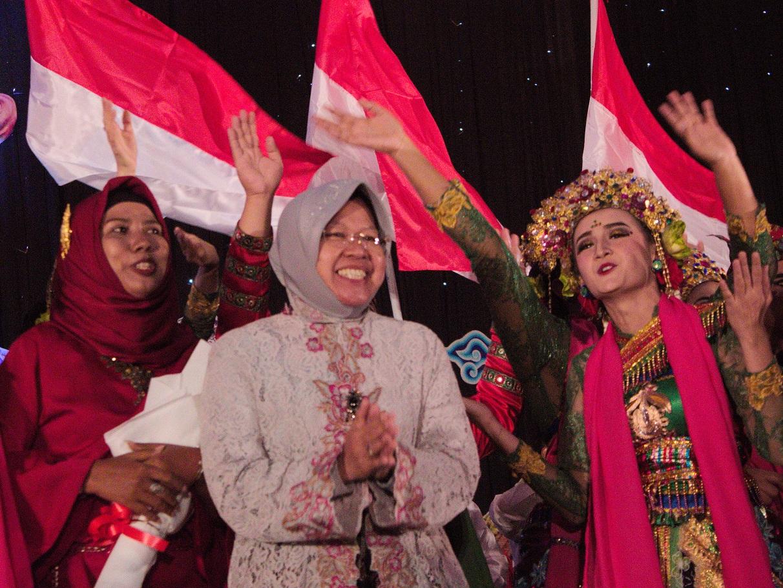 Walikota Surabaya saat berada di Indonesia Channel 2017 di Surabaya (Foto: Bagus DR/GNFI)