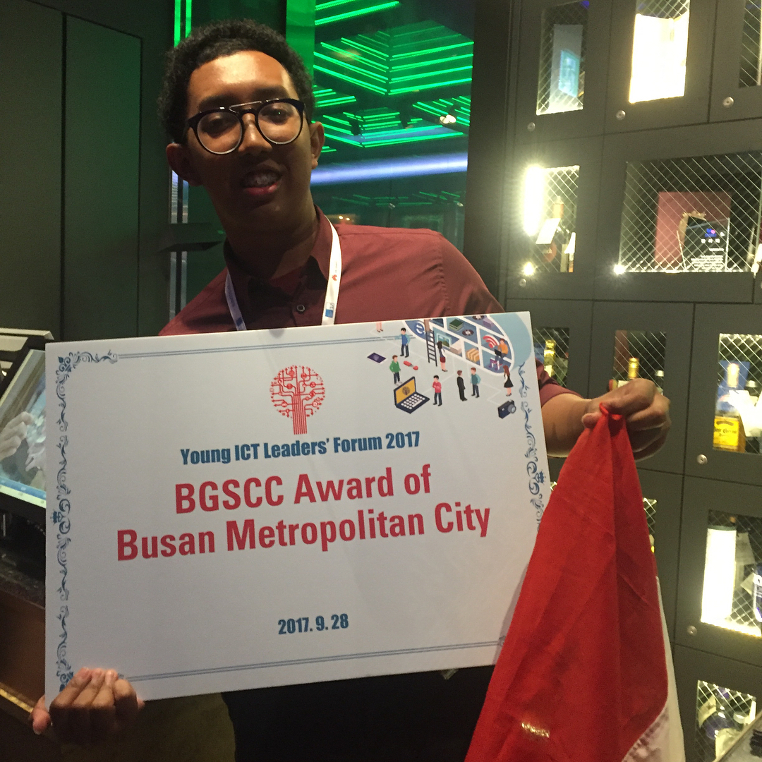 CEO Design for Dream, Irvandias Sanjaya saat menjadi juara BGSCC Award 2017 di Busan (Foto: dok. Irvandias)