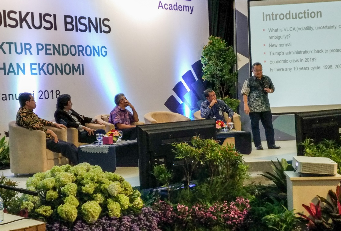 Forum diskusi bisnis KAFEGAMA MM Surabaya (Foto: Bagus DR/GNFI)