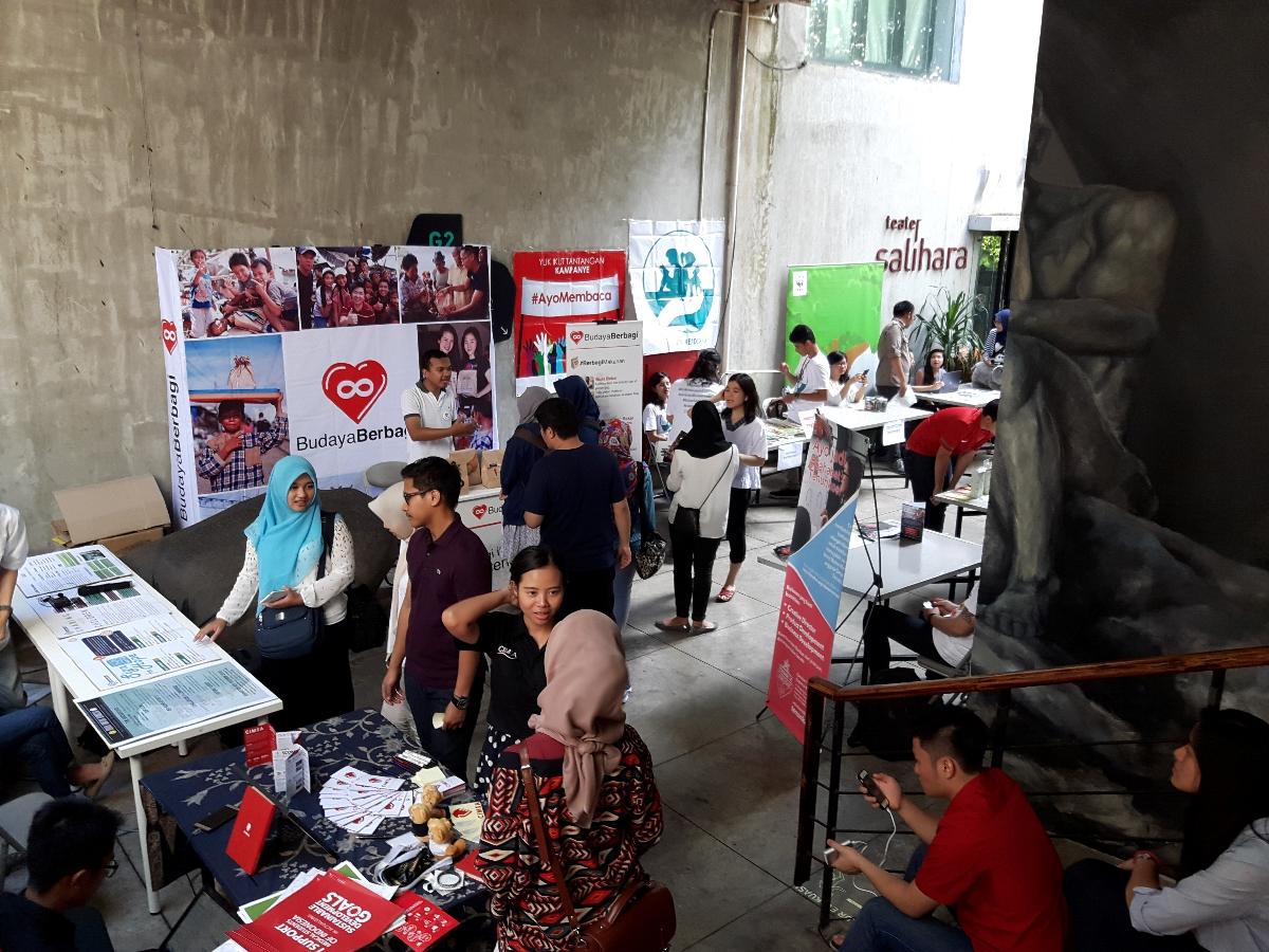 Suasana pameran di Festival Relawan (Foto: dok. Campaign.com)
