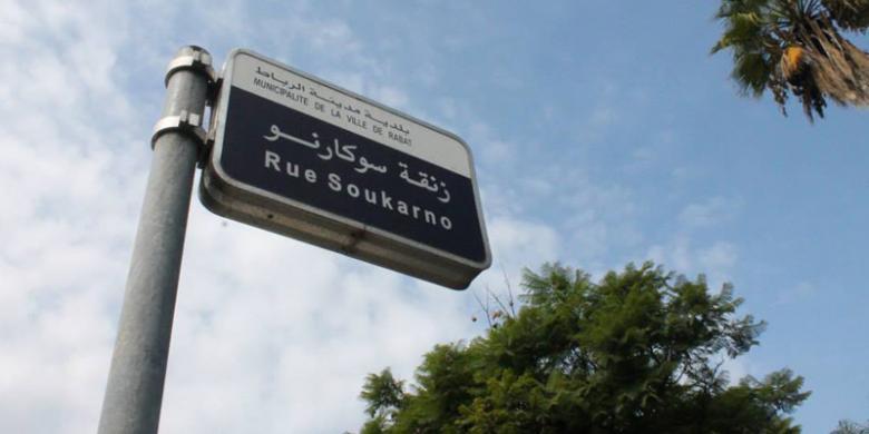 Jalan Sukarno di Rabat (Foto: Fira Abdurachman / Kompas.com)
