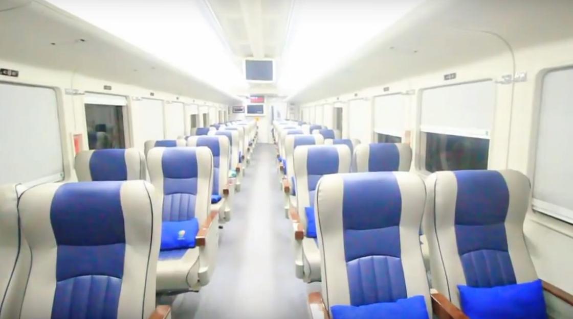Interior gerbong eksekutif