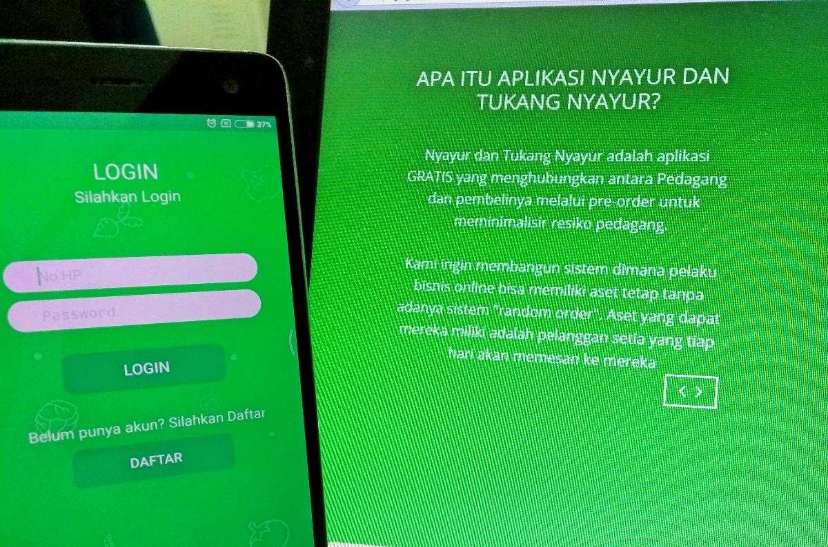 Tampilan aplikasi Nyayur (Foto: Bagus DR/GNFI)