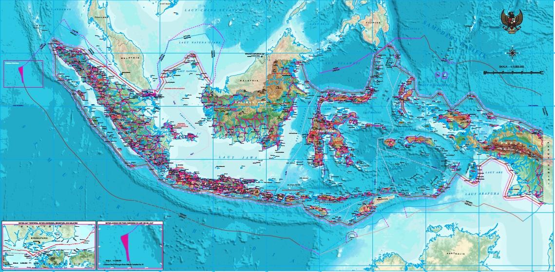 Peta NKRI terbaru 2017 (Gambar: Badan Informasi Geospasial)