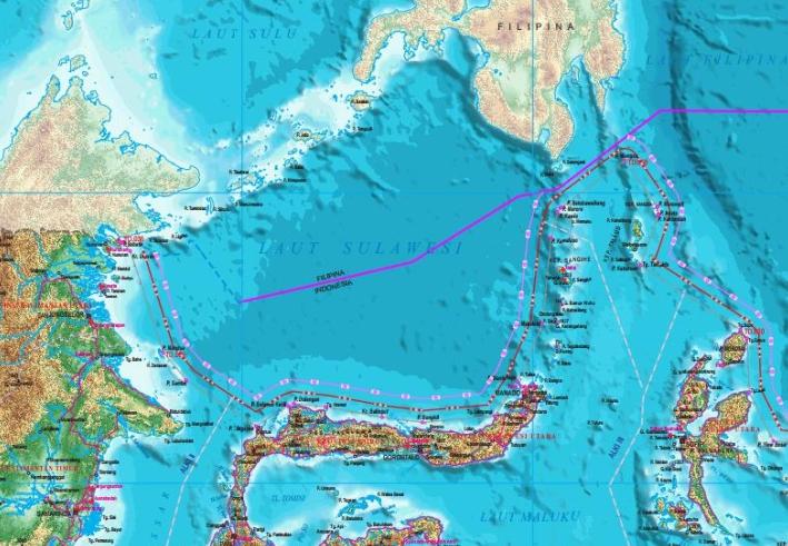 Perbatasan RI dengan Filipina di utara Sulawesi (Gambar: Kemenko Kemaritiman)