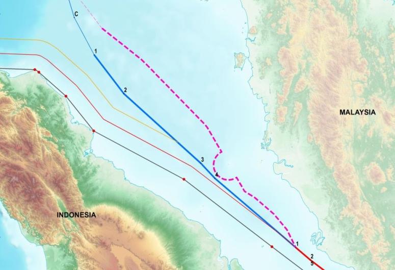 Perbatasan RI di selat Malaka, peta baru (Gambar: Kemenko Kemaritiman)