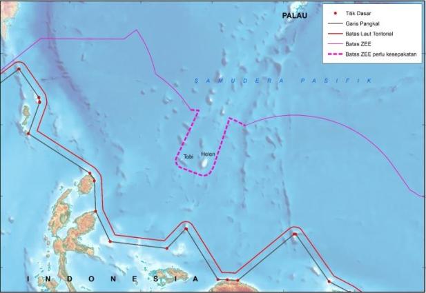 Perbatasan RI dengan Palau peta lama (Gambar: Kemenko Kemaritiman)