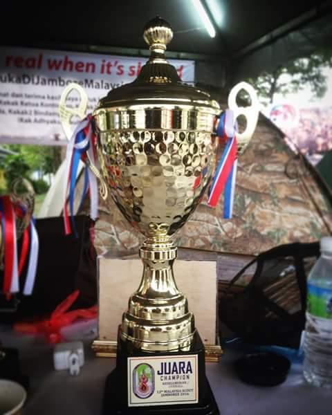 Piala Juara Umum di ajang 13th Malaysia Scouts Jamboree (Foto: Pramuka Indonesia)