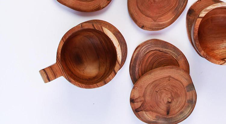 Produk alat makan kayu yang diproduksi Trisna dan Agung (Foto: Qlapa.com)