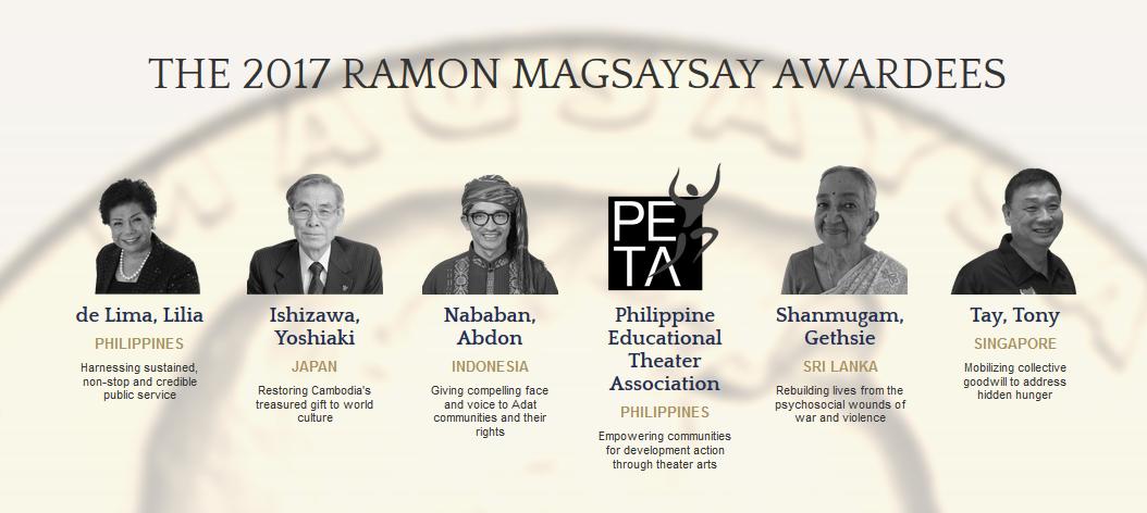 Para pemenang Ramon Magsasay Award 2017 (Foto: rmaward.asia)