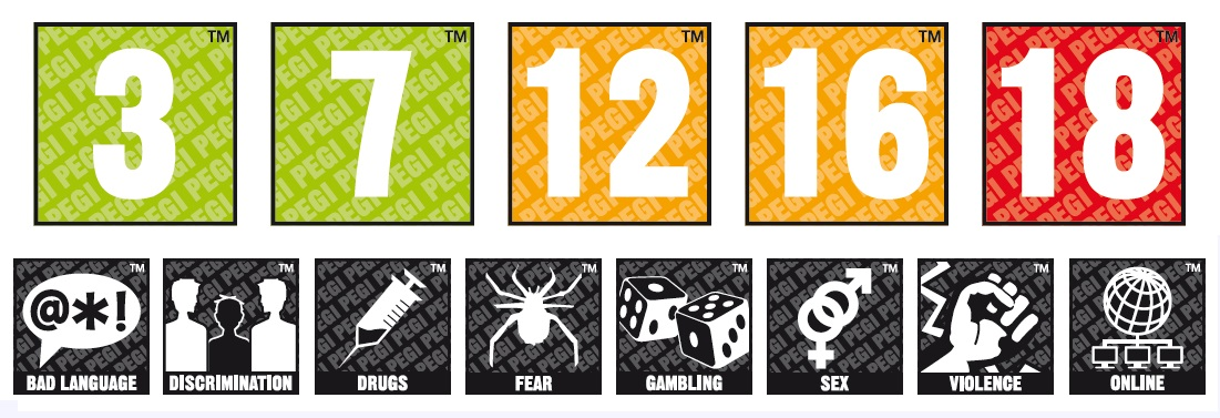 Pegi, rating game untuk wilayah Uni Eropa (Gambar: kotaku.co.uk)