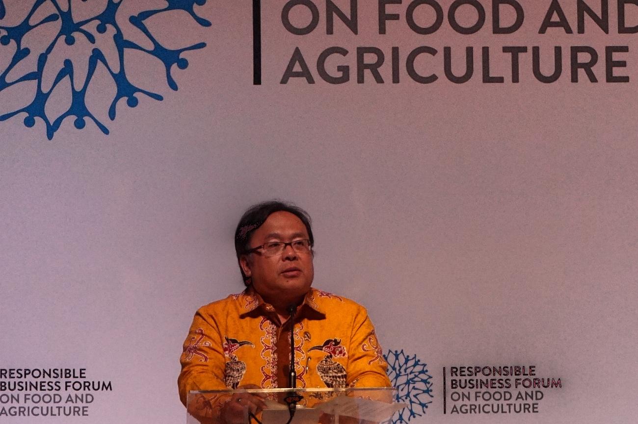 Menteri Perencanaan Pembangunan Republik Indonesia, Bambang Brodjonegoro saat memberikan pidato pembuka RBF 2017 (Foto: Bagus DR/GNFI)