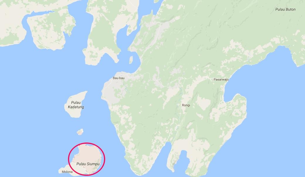 Pulau Siompu (Gambar: maps.google.com)