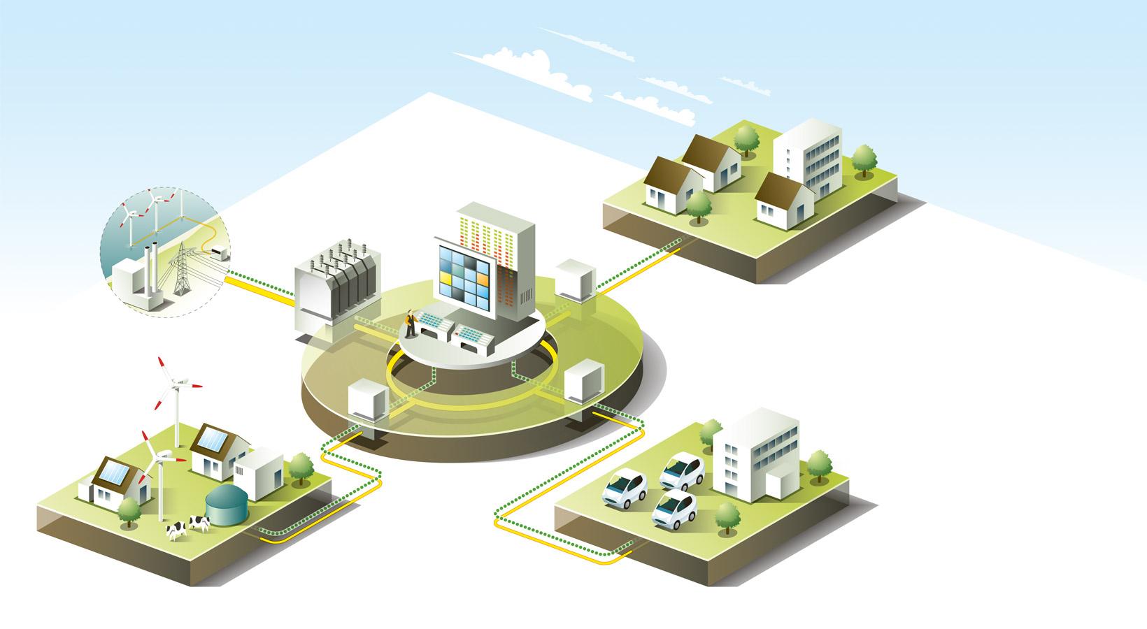 Ilustrasi skema smartgrid