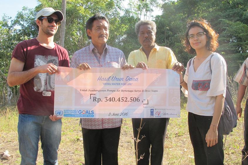 Dana hasil crowdfunding yang didapatkan (Foto: dok. UNDP Indonesia)