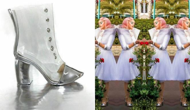 Katy Perry mengenakan sepatu rancangan Rinaldy Yunardi. (Instagram.com/rinaldyyunardi)