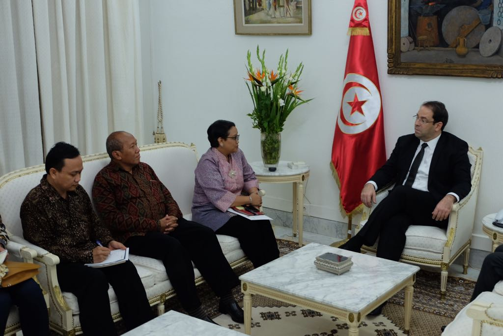 Menlu RI bertemu PM Tunisia (kemlu.go.id)