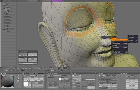 Salah satu software CGI, Blender.