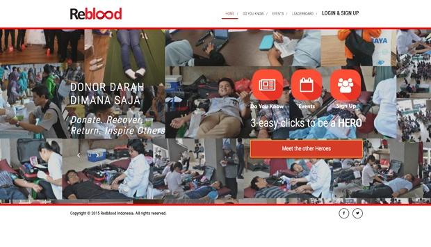 Ini dia aplikasi Reblood yang bisa diunduh di playstore (Tempo.co)