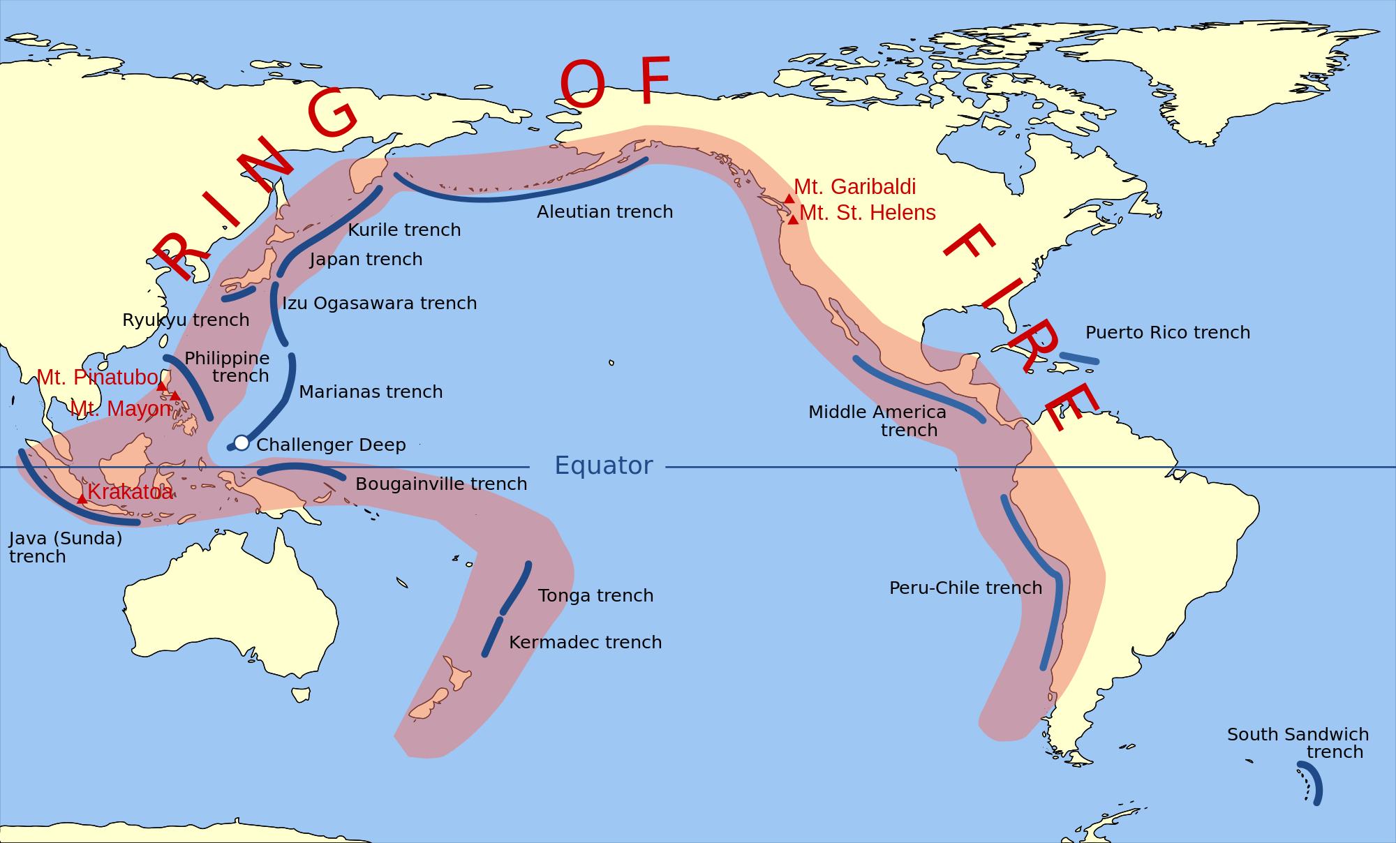 Gunung Agung sebagai gunung api aktif dari 130 gunung api di Indonesia (geography.name)