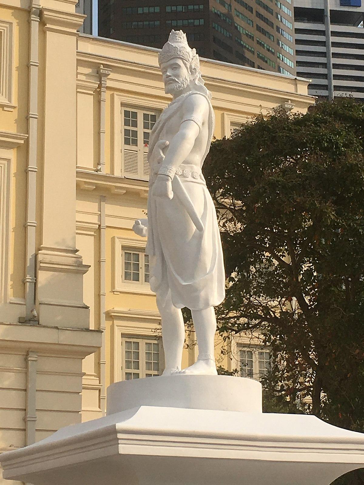 Patung Sang Nila Utama di Singapura | Sumber: Wikipedia