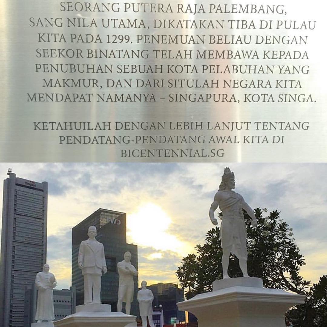 Lima patung pendiri Singapura | Sumber: Jolygram