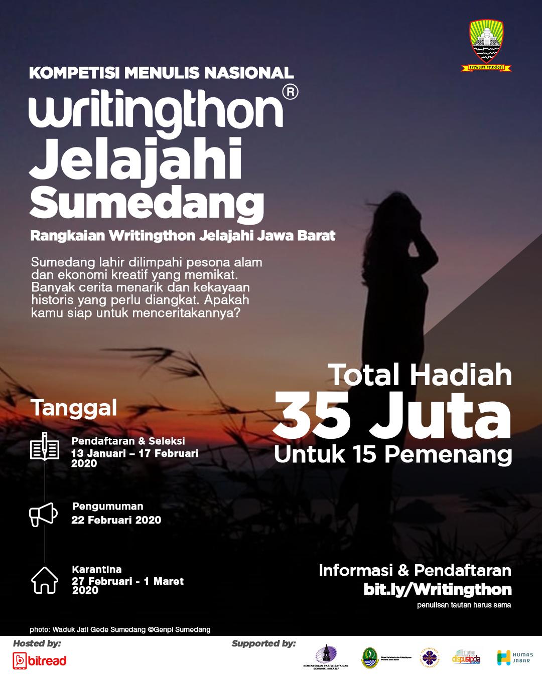 Poster Kegiatan Writingthon Jelajahi Sumedang
