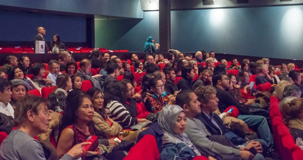 Suasana acara Indonesian Film Fesatival (KBRI Den Haag)