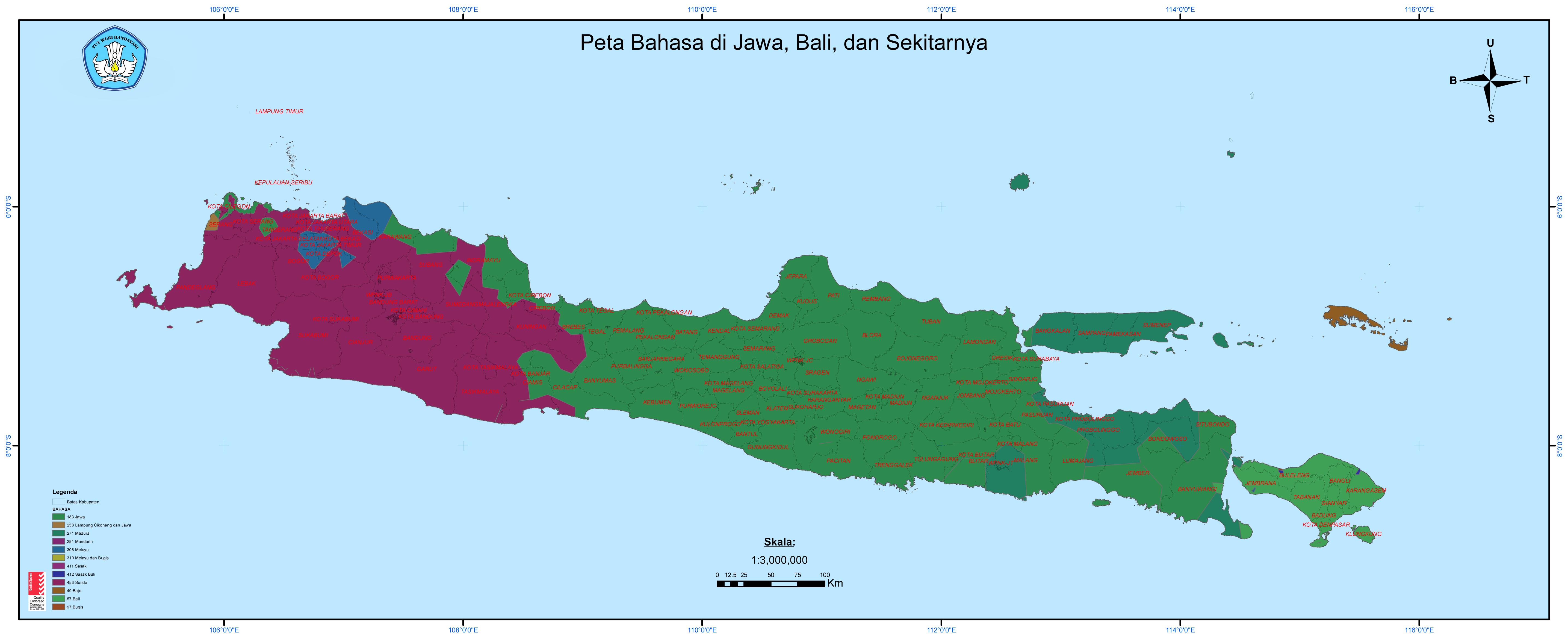 nantinya PLTB tersebut akan memasok kebutuhan Listrik dari Pulau Jawa Hingga Bali   Sumber: Kemendikbud