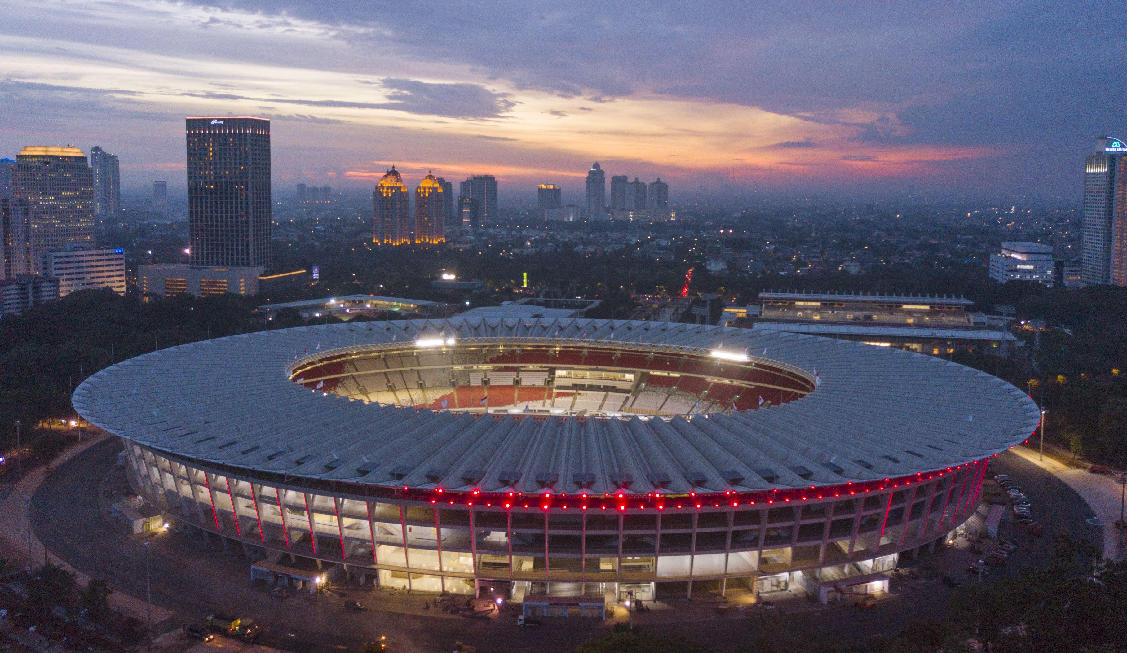 Stadion Utama Gelora Bung Karno salah satu stadion yang akan digunakan untuk bertanding | Pinterest