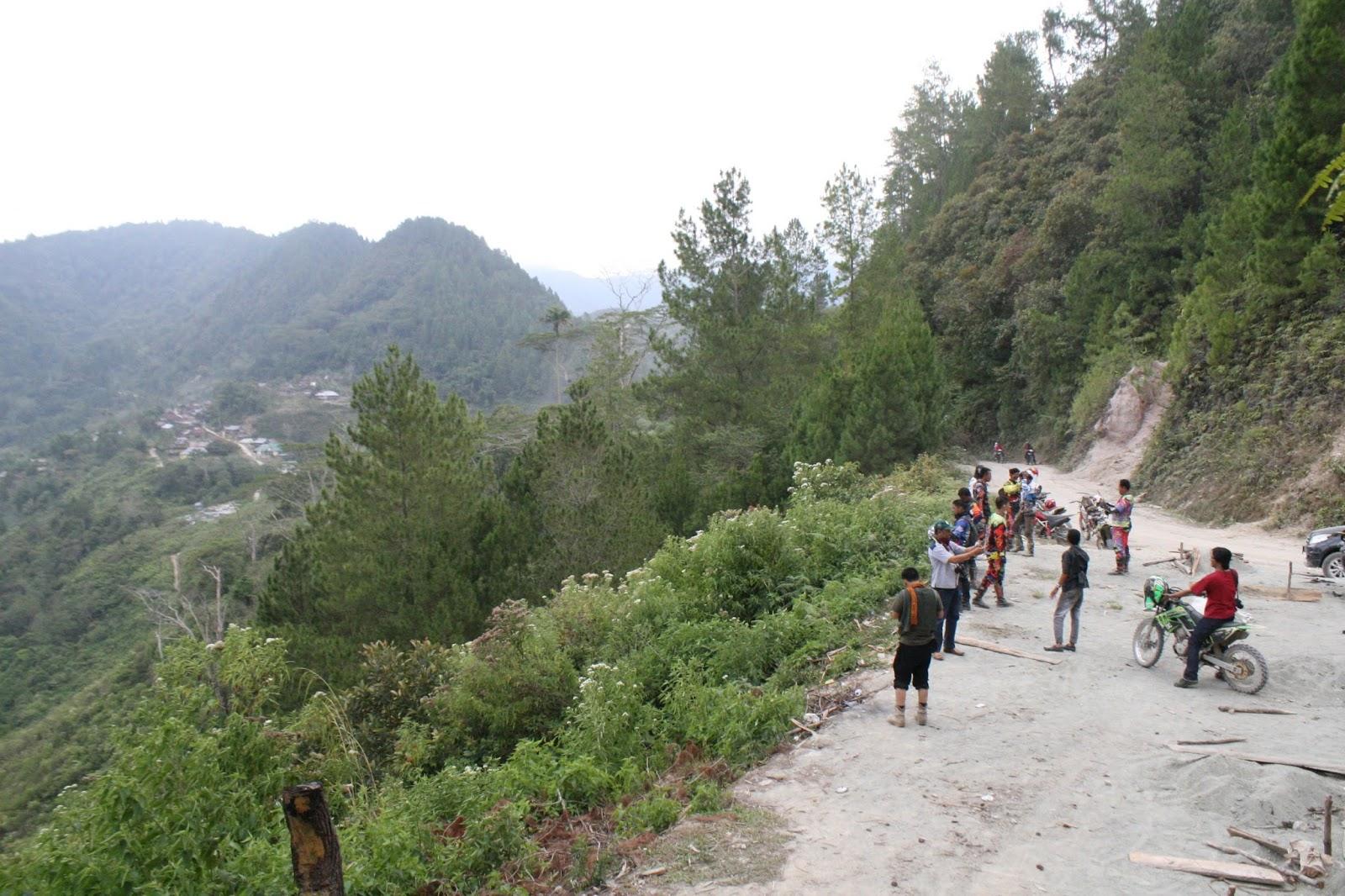 Pemandangan bukit sebelum Seko