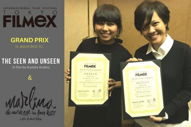 Sekala dan Marlina dapat penghargaan dari TOKYO FILMeX | Foto: Kompas