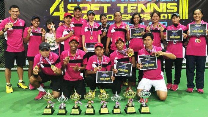 Tim Soft Tenis Indonesia Bawa Pulang Lima Emas dari Thailand | Foto: Tribun Sport