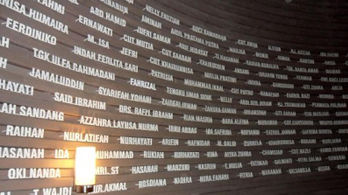Deretan nama para korban Tsunami Aceh   Foto: Adara/sejarahlengkap.com