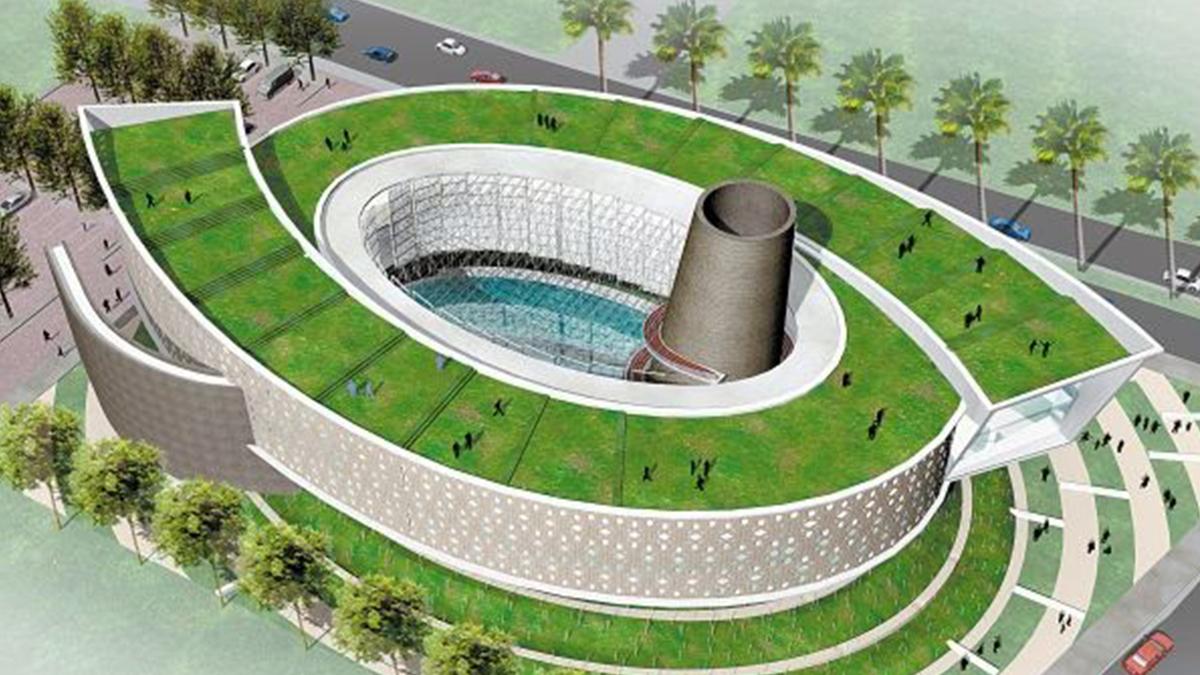 Tampak atas desain Museum Tsunami Aceh   Foto: meutiadiary.com