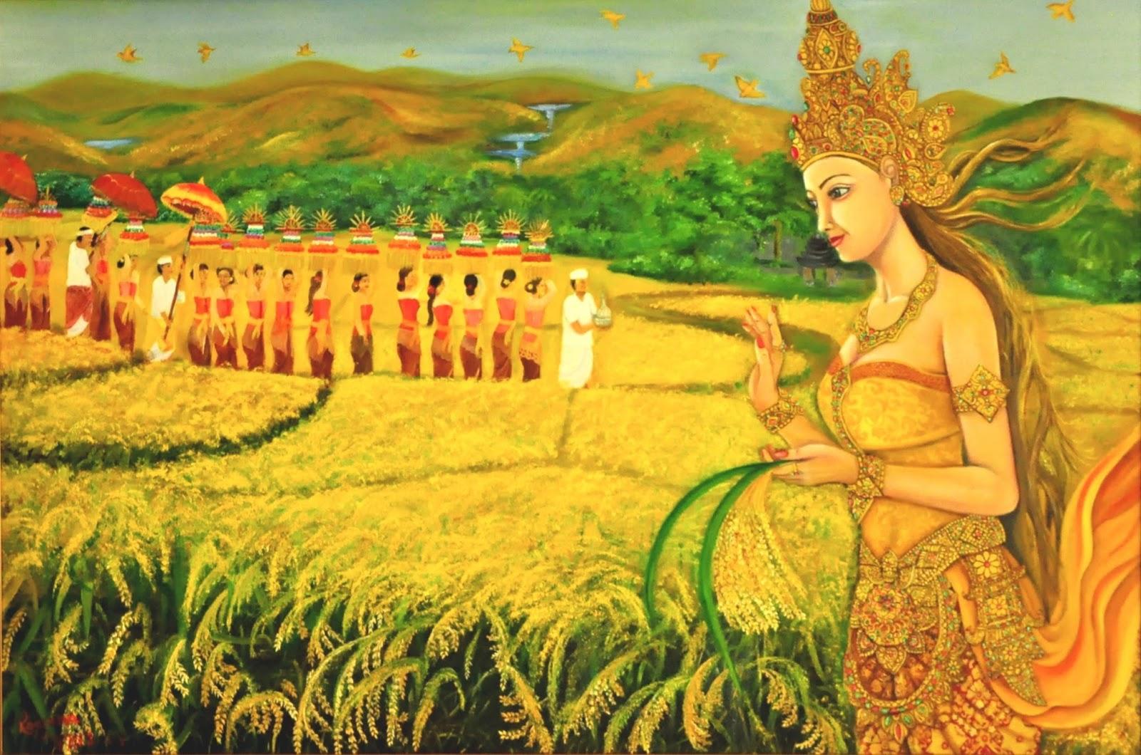 Ilustrasi Nyai Sri Pohaci sang dewi kesuburan | Foto: mahligai-indonesia.com