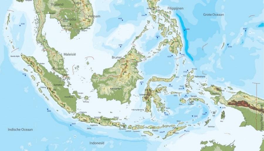 Peta wilayah Indonesia dari sabang sampai merauke