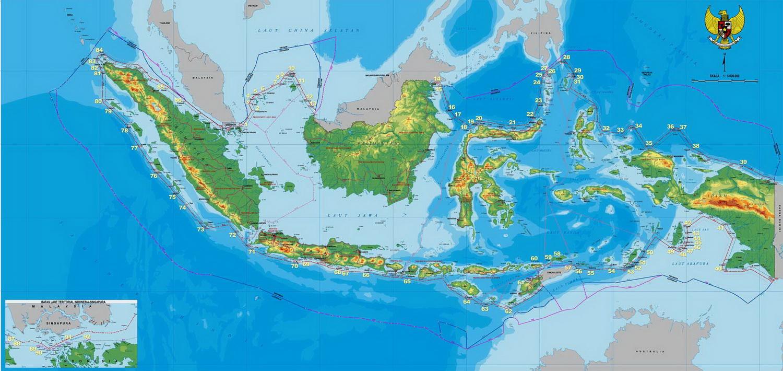 Peta Indonesia. Sumber: infoindonesiakita.com