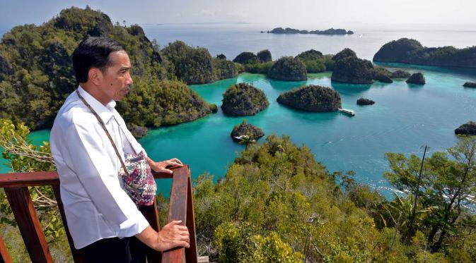 Presiden Jokowi Saat di Raja Ampat Papua | Travel.kompas.com
