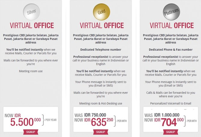 Paket Layanan Virtual office | Merdeka.com